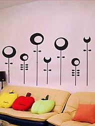 Createforlife ® Autocollant de pièce de crèche mur Wall Art Stickers Sun Moon Black Tree enfants