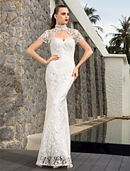 Lanting Bride® Sheath / Column Petite / Plus Sizes Wedding Dress - Chic & Modern / Elegant & Luxurious / Glamorous & DramaticWedding