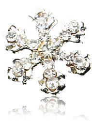 Prego 10PCS Snowflake Design Rhinestone Studded Art Decorações