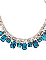 Plazas de Europa y América las mujeres Ensamble Crystal Rhinestone exquisito Gargantillas collar (más color) (1 pc)