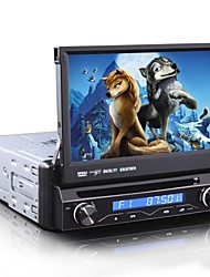 1 Din 7 Inch Autoradio Multimedia DVD-speler GPS Bluetooth Ipod Analoge TV