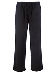 Restaurant Uniforms Black Drawstring Waist Chefs Pants with Two Pockets