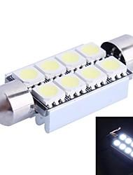 41mm 2W 6000K 120LM 8x5050 SMD weiße LED für Auto-Lesen / Kfz-Kennzeichen / Türleuchte (DC12V, 1Stk)