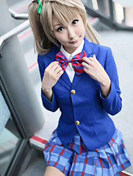 Inspired by Love Live Honoka Kōsaka Anime Cosplay Costumes Cosplay Suits Patchwork Blue Long Sleeve Coat / Shirt / Skirt