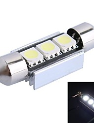 36mm 1W 50LM 6000K 3x5050 SMD White LED for Car Reading/License Plate/Door Lamp (DC12V, 1Pcs)