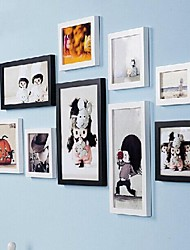 Mixed Color Photo Frame Collection Set of 9