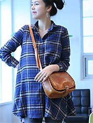 Office and Home Applicable Long Design Plus Size Maternity Blouse Shirt Comfortable