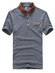 Revers shirt de couleur unie pour hommes