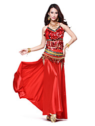 Performance Amazing Satin With Split Front Belly Dance Skirt for Ladies (More Colors)