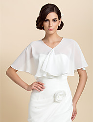 Short Sleeve Chiffon Special Occasion Evening Jacket/Wedding Wrap(More Colors) Bolero Shrug