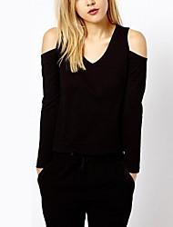 Noir Knit T-shirt sans bretelles Slim des femmes