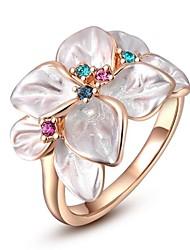 Amour Cadeau Pour Femme classique plaqué or rose Bague fleur