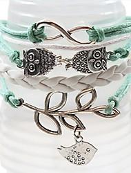 QINUO Unendlichkeit Olive Branch Handarbeit Armband Weaving