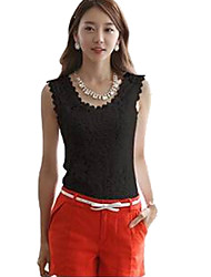 Women's Tops & Blouses , Cotton Blend/Lace Sleeveless