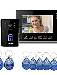 "9"" Color Monitor Touch Key Video Door Phone Doorbell Intercom System IR Camera"