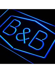 J025 Bed and Breakfast B & B Chambre Neon Light Enregistrez-vous