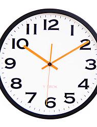 "11.8 ""Cadre Noir Figure Gras Horloge murale Muet"