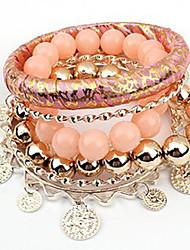 Pengchen Fashion Waves Multilayer-Armband (Pink)