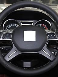 Xuji ™ Black echt leder stuurhoes voor Mercedes Benz GL350 ML350