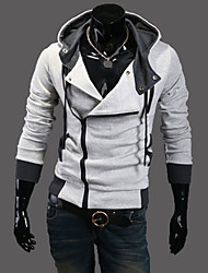 nono oblíqua zipper cardigan com capuz moletom com capuz