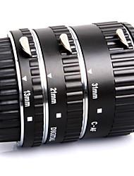 meike® macro af auto concentrar um anel de metal tubo de extensão definido para a câmera