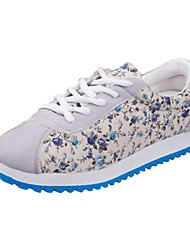 Donna Canvas tacco piatto Comfort Fashion Sneakers Shoes (più colori)
