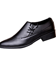 Men's Shoes Leather Wedding / Party & Evening Loafers Wedding / Party & Evening Flat Heel Black