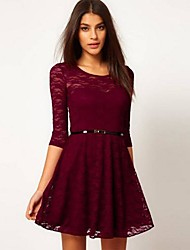 The One & Only Women's Lace All Match Bodycon Half Sleeve Dress X60078989