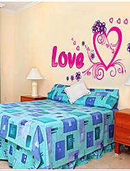 Patrón de la palabra del amor etiqueta de la pared (1PCS)