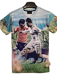 loisirs de la série de la coupe du monde d'hommes 3D Print t-shirt à manches courtes