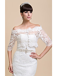 Wedding  Wraps Coats/Jackets Long Sleeve Lace White Wedding / Party/Evening