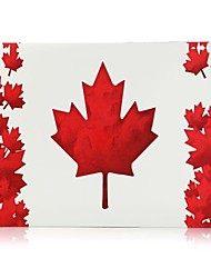 Red Maple Leaf Folio Plastic Protective Hard Shell Case for Macbook Pro 13""