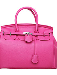 Lady Fashion Solid Color PU Leather Tote