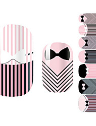 28PCS Striped Tie Design Nail Art Stickers