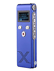 New Professional Gravador de Voz Digital ditafone MP3 Player 8G Azul