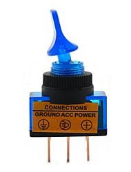 BONATECH 12V 2-File Interruttore Brachypodium Auto / Toggle Switch con luce blu - Blu + Nero