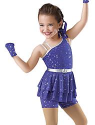 Dancewear Lycra ja tekojalokivi Jazz / Mordern Dance Dress Lapsille (More Colors)
