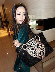 N-pai Women's Fashion Leopard Print Sequin One Shoulder Bag