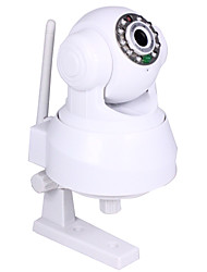 détection wifi et filaire audio bidirectionnelle p / t ip caméra + angle contrôle + mouvement, p2p