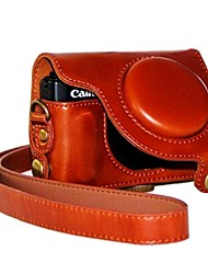 """Ever Ready"" Protective Leather Camera Case Bag Cover for Canon PowerShot S110 S120 S200 Digital Camera"