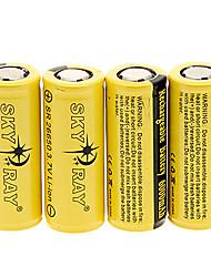 Skyray SR 26650 6000mAh da bateria com proteção de sobrecarga (4 peças)