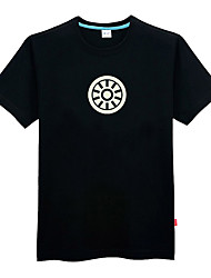 Brave Héroe Negro Poliéster hombres cortos de la manga de Cosplay T-shirt