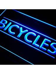 bicicletas compras signo luz de neón