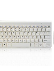 Super Thin 2.4G Wireless Mouse Keyboard Combo White Color