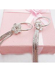 Cotingbo Fashions Purl Flower Diamond Earrings