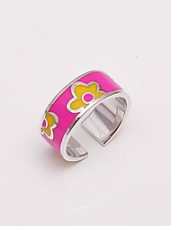 AS 925 Silver Jewelry  Red yellow ring opening