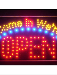 "led003-r Come in we're OPEN Business LED Light Sign 13"" x 9"""