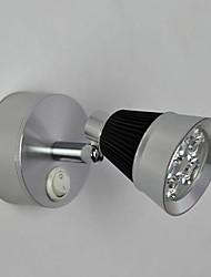 Luces de pared, 1 luz, elegante Crystal Artístico Acero inoxidable Recubrimiento MS-86326