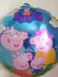10pcs/lot 45 * 45cm Peppa Pig Foil Balloon For Baby Birthday Party Cartoon Balloon 18 Inch Whole Famil