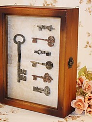 Wooden Boxes Archaize With Lock Key Box